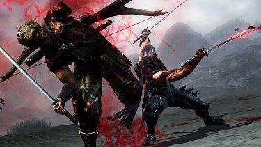 A screenshot of Ninja Gaiden 3: Razor game play.