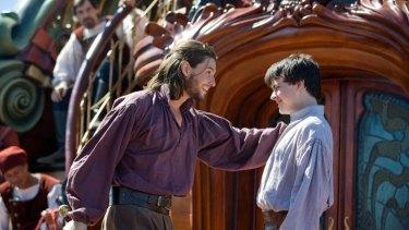 King Caspian (Ben Barnes, left) welcomes his old buddy Edmund (Skandar Keynes) in the new Narnia adventure.