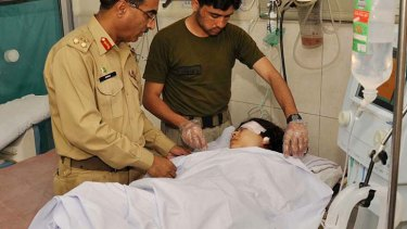 Malala Yousafzai ... shot on a school bus.