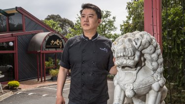Jack Liao's restaurant will make way for the new road.