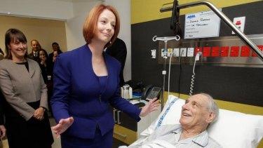 Prime Minister Julia Gillard announces her health deal.