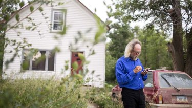 Facing 10-35 years in prison: Craig Cobb outside his house in Leith, North Dakota.