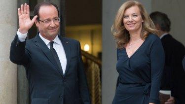 French President Francois Hollande and partner Valerie Trierweiler