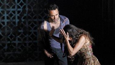 Matias Stevens and Silvia Colloca in <i>Blood Wedding</i>.