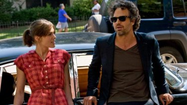 Musician and mentor: Keira Knightley and Mark Ruffalo in <em>Begin Again</em>.