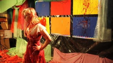 Screamer: Actor and director Jessica Cameron on the set of <i>Truth or Dare</i>.
