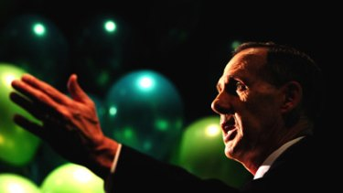 Greens leader Bob Brown formally launches the party's 2010 campaign.