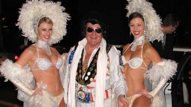 Mayor and Elvis impersonator Pat Reilly.