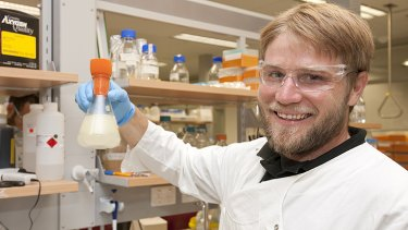 Future fix? Tim Brennan, a PhD student at the Australian Institute of Bioengineering & Nanotechnology.
