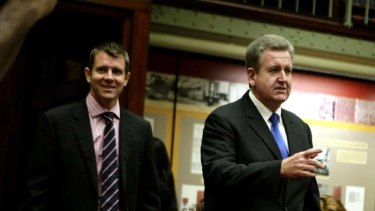 NSW Premier Barry O'Farrell and Treasurer Mike Baird.