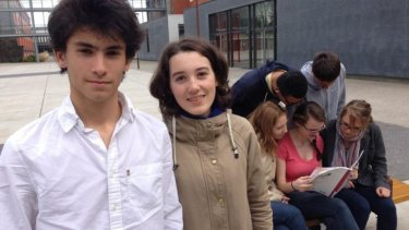 Mehdi Medinoun and Alice Dareys, students from Lycee Louis Thuillier in Amiens.