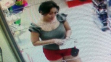 Missing Gold Coast woman Novy Chardon seen in CCTV footage shortly before her disappearance.
