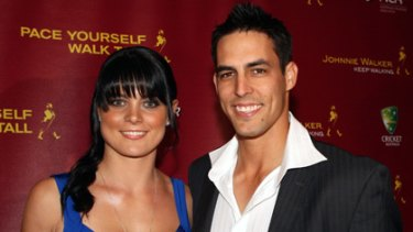 Jessica Bratich and Mitchell Johnson at a function earlier this year.