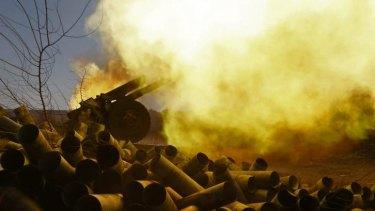 Conflict: Pro-Russian rebels fire artillery toward Ukrainian positions at Donetsk airport.