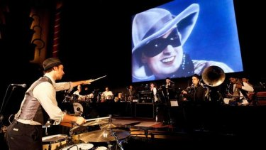 Compelling: Australian composer Ben Walsh with Fearless Nadia and (onscreen) Mary Evans from Diamond Queen.
