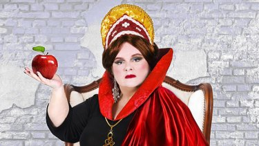 Starring role: Magda Szubanski as The Wicked Queen in the panto.