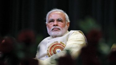 Narendra Modi, prime ministerial candidate for India's main opposition Bharatiya Janata Party.