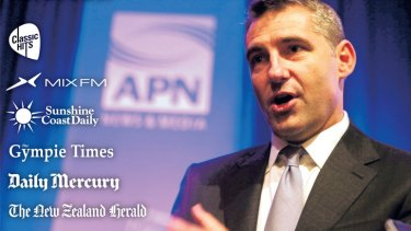Some of APN's stables with chief executive Brett Chenoweth.