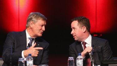 Leigh Clifford, left, has stood firmly behind Alan Joyce since he appointed him as Qantas chief executive in 2008.