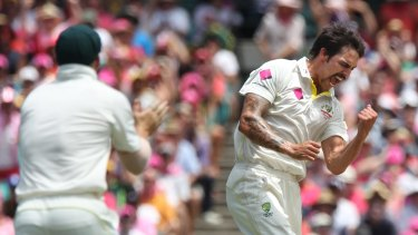 Retiring pace ace Mitchell Johnson.