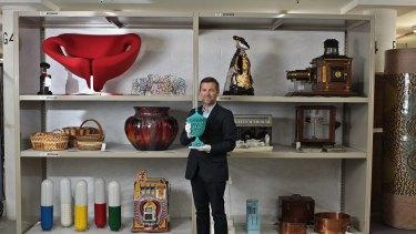 Peter Denham in the Powerhouse basement.