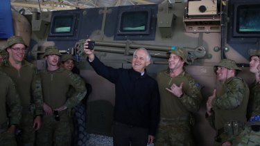 Prime Minister Malcolm Turnbull met with Australian troops serving at Camp Qargha near Kabul, Afghanistan on Monday.