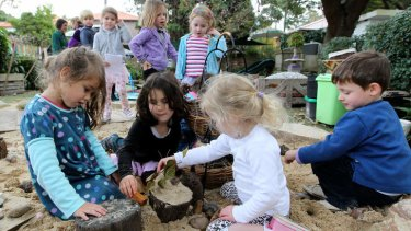 Hands on: Children play in the child-friendly environment at Wee Care Kindergarten in Bondi Junction.