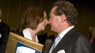 Locking horns ... PM Julia Gillard and Andrew 'Twiggy' Forrest.