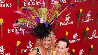 The Edelstens show their style at Flemington.