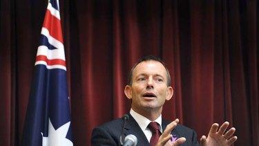 Under fire ... Tony Abbott.