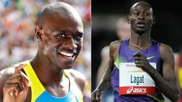 Favourites  ...  Olympic medal hopefuls David Rudisha, left, and Bernard Lagat.