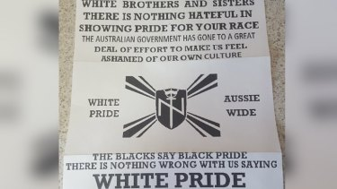 Aryan Nations Perth White Supremacist Group On Letterbox
