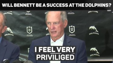 Wayne Bennett has been appointed The Dolphins Head Coach on a four-year deal.