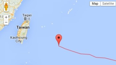 A Google Maps view of Soudelor's trajectory.