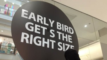 """How Myer at Westfield Chatswood in NSW reportedly fixed their sign. <i>Photo: <a href=""""https://twitter.com/#!/O_P/status/154055735213428736"""">Mike Brown </a></i>"""