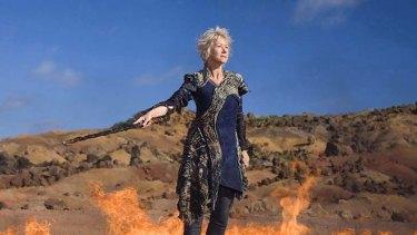 Firebrand ... Helen Mirren as Prospera in Julie Taymor's The Tempest.