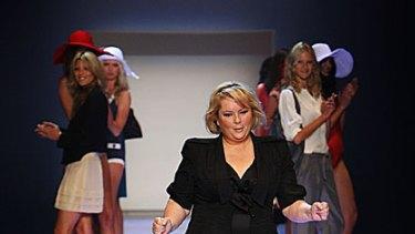 On the catwalk ... Magda Szubanski slimmed down by following the Jenny Craig program.