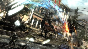 Metal Gear Rising: Revengeance is all about charging headlong into fast and furious combat.