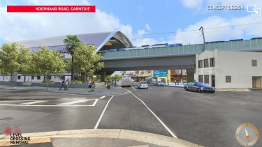 An artist's impression of the new Carnegie station.