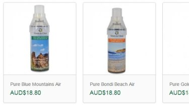 Some of the air blends that can be purchased on the Green & Clean website.