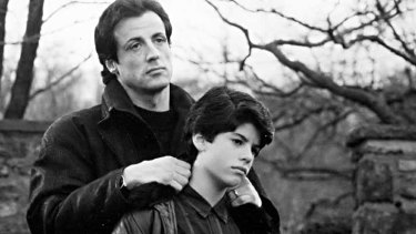 Rocky Bilboa and Rocky Bilboa jnr - father and son act together in 1990's <i>Rocky V</i>.
