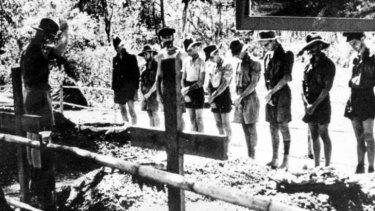 Comrades: Australian PoWs bury colleagues on the Thailand-Burma railway, July 1943.