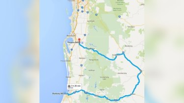 The route that will have to be negotiated by anyone driving south.