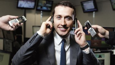 """Who ya gonna call? … Tom Waterhouse's online bookmaking business now has 80,000 clients and, he says, will take bets """"on anything""""."""