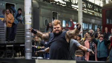 Maliyan (Adam Briggs) at The Zone in <i>Cleverman</i>.