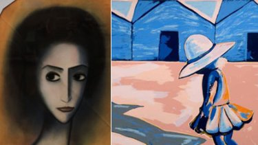 Same same but different ... Robert Dickerson's <i>Pensive Woman</i> (left) and Charles Blackman's <i>Street Scene with Schoolgirl</i> have been confirmed as fakes by the Victorian Supreme Court.