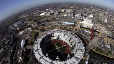 One hundred days to go ... the Olympic Stadium.
