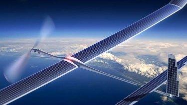 """UAV: Titan's Solara 50 Coast """"atmospheric satellite""""."""
