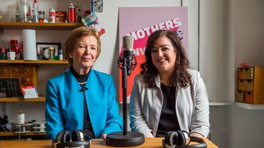 Former Irish president Mary Robinson and author and comedian Maeve Higgins