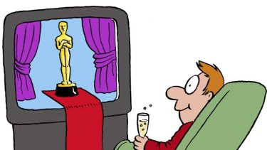 Spoilt for choice ... these days the Oscars comes to you, whatever way you want it. Illustration by John Shakespeare.
